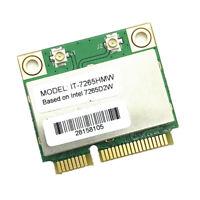New 7265HMW 7265D2W 802.11AC WIFI 867Mbps Dual Band MINI PCI-E WIFI Card