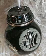 "Disney Star Wars BB-9E Black Droid Blown Glass Christmas Tree Ornament 4"""