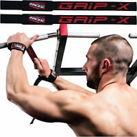 RDX Black Gym Weight Lifting Straps Wrist support Wraps Bar Training Workout US