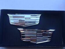 K-35S 2XNEW CTS SRX ST ATS XLR SL CT6 Chrome Trunk Fender Emblem Badge Cadillac