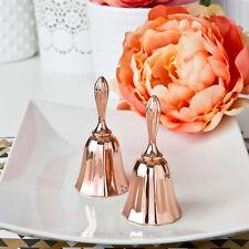 24 Rose Gold Metal Wedding Bell Kissing Bells Wedding Favors