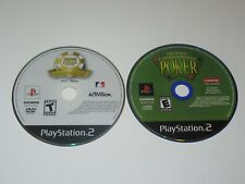 Poker Based Games - PlayStation 2 Ps2 Lot of 2 - Disc Only