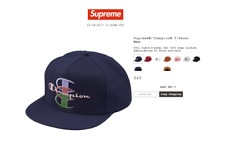 Supreme Champion 5 Panel Snapback Navy - FW17 New