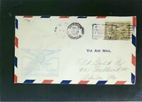 Canada 1938 First FLight Montreal - Albany Phili Back Stamp - Z2502