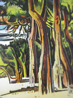 Milford Zornes Artist Signed California Scene Painting movement Vintage 1991