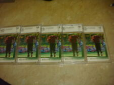 (5) -2001 Upper Deck Tiger Woods rc rookie BCCG 10- INVESTMENT LOT ALL 5
