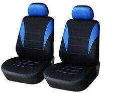 2 FRENTE FUNDA DE ASIENTO AZUL Y NEGRO para NUEVOS PEUGEOT RENAULT SEAT VW