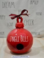 Rae Dunn JINGLE BELLS Ornament Birdhouse Round Red NEW RARE Christmas '20