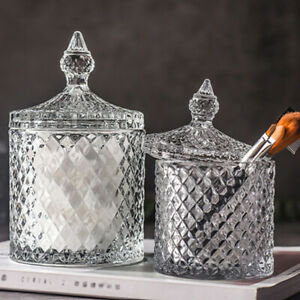 1PC Cookie Glass Decorative Storage Container Crystal Candy Dish for Decoration