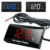 LED 12V Car Motorcycle Voltage Gauge Digital Display Voltmeter Volt Panel Meter