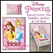 Disney Princess 'BOULEVARD' Junior Cot Bed Duvet Cover Set Toddler Girls Bedding