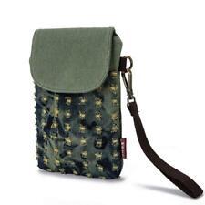 Women Wristlets Wallet Clutch Handbag Universal Mobile Phone Pouch Purse Canvas