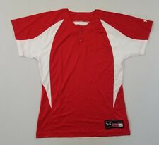 Under Armour Mens Stock Baseball Jersey | Red/White Sz Md | New