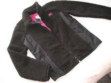 A&F KIDS Abercrombie & Fitch Teddy JACKE Plüsch schwarz Gr L XL 16 158 164 NEU