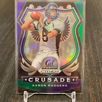 Aaron Rodgers 2020 Panini Prizm Draft Picks PRIZM Parallel SP Green Bay Packers
