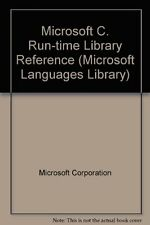 Microsoft C/C++ Run-Time Library Reference: Covers