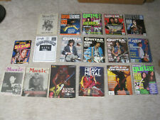 12 Different Vintage Guitar Magazines and Song Books - Heavy Metal Rock! 80s 90s