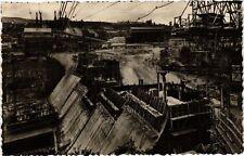 CPA GÉNISSIAT Barrage Parement aval vu de la rive gauche (485785)
