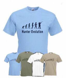 Evolution to Hunter t-shirt Funny Shooting T-shirt sizes S TO 2XXL