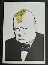 BANSKY - Litho signed and numbered on paper - TURF WAR - Winston Churchill