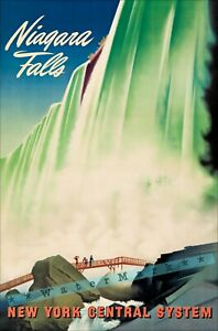 Niagara Falls 1940 New York Central Railroad Vintage Poster Print Art Retro Ad