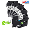 5PK TZe231 Label Tape  Black on White 12mm P-touch Compatible Brother Ribbon NEW