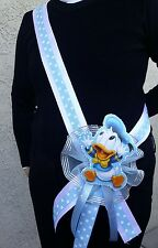 1 Baby Shower ~MOM TO BE SASH with Donald Duck~ Blue/boy,Ribbon,favors,Supplys