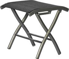Bank de pied DIPLOMAT alu | noir  salon de jardin chaise meuble de jardin