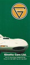 Ginetta 1994-95 UK Market Foldout Sales Brochure G33 G27 Classic 4 G34
