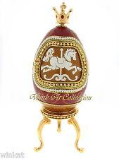Real Goose Egg Horse Carousel Music Box Retired 2007