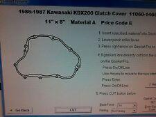 Kawasaki KDX200  Clutch cover Gasket 1986 1987