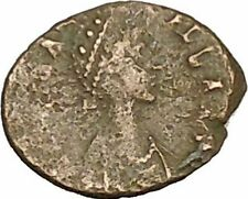 AELIA FLACILLA Ancient Roman Coin VICTORY Cult CHI-RHO Christ monogram  i40192
