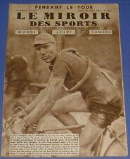 MIROIR DES SPORTS N°1016 1938 CYCLISME TOUR FRANCE VERVAECKE FRECHAUT BARTALI