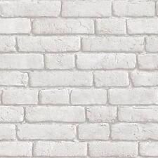 Muriva Wallpaper j30309-Blanco Ladrillo Bluff patrón Nuevo!!!