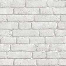 Muriva Wallpaper J30309 - White Brick Bluff Pattern  NEW!!!