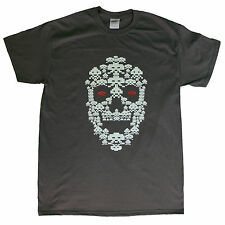 Skull Space Invader Dark Grey T shirt
