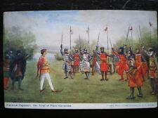 POSTCARD SOCIAL HISTORY WARWICK PAGENT - THE TRIAL OF PIERS GAVESTON
