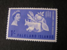 FALKLAND IS. SCOTT # 146, 1/- VALUE 1963 FREEDOM FROM HUNGER ISSUE MLH