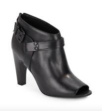 Vince Camuto Signature Nikoletta Black Leather Women Booties Size 5.5M 4488