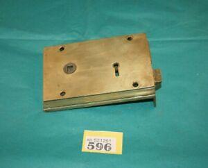 Antique Heavy Brass  Door Rim Lock reclaimed  596