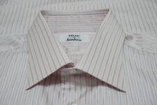 Fray Faint Errötung Silber Blau Gestreift Spread Kragen Baumwollkleid Hemd Sz 17