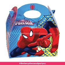 x24 Spiderman Party Kasten für Kinder Essen Beute Mittagessen Geburtstag Kiste