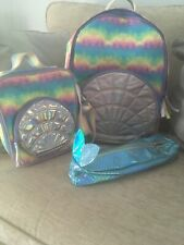 Girls Paperchase Rainbow Shell Lunch Bag And Backpack Rucksac Pencil Case