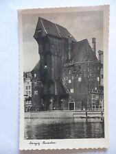 Ansichtskarte Danzig Krantor 1943