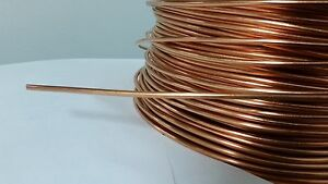 SOFT ANNEALED GROUND WIRE SOLID BARE COPPER 6 AWG 10' FEET