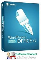 Corel WordPerfect Office X7 Not X8 Word Perfect Home & Student GENUINE GUARANTEE