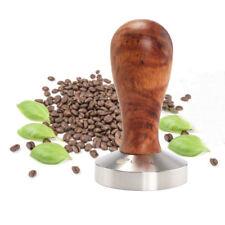 58mm Kaffee Tamper Barista Espresso Cafe Bar Flat Base Presse Edelstahl und Holz