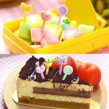 8Pcs Cartoon Kawaii Food Fruit Bread Picks Forks Stick Set Bento Lunch Box Decor