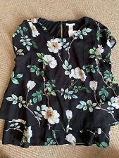 H&M Mama Nursing Top Size Large Floral Print NWT