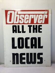 Vintage 'OBSERVER' News paper Sign